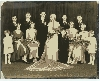 Depression Era Wedding Party Photograph