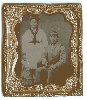 Civil War Confederate and Wife Tintype