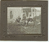 Horse, Buggy, Dog and Child Photograph