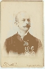 Man with Medals Cabinet Card